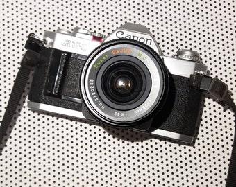 Canon AV-1 SLR with DeJur 28mm f2.8 Wide Angle Lens
