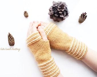 Fingerless mittens, knitted fingerless mittens, knitted mittens, arm warmers, knit gloves, knit mittens, autumn mittens, knitted arm warmers