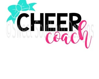 Cheer coach with bow SVG instant download design for cricut or silhouette