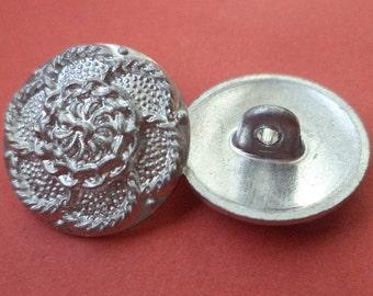 18 mm (3711) metal button buttons 12 METAL BUTTONS silver