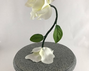 White Rose, Enchanted Rose, Beauty and the Beast Rose, Life Size Rose, Wedding Flowers, Wedding Centerpiece, Beauty and the Beast Wedding