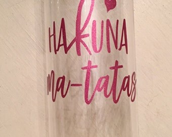 Hakuna Ma-Tatas Water Bottle // Breast Cancer Awareness // Save the TaTas // Clear Water Bottle