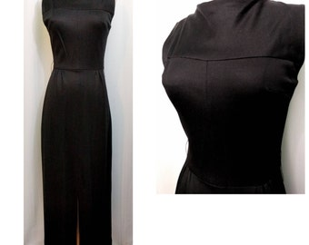 Black 50s Sheath Gown