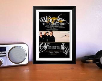 U2 The Joshua Tree Concert Tour Flyer Dublin 22nd July 2017 Autographed Signed Photo Print