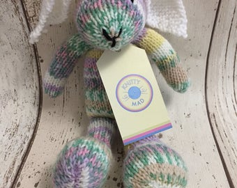 Hand knitted CE tested small bunny rabbit