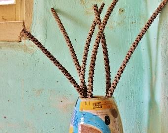 SECONDS SALE Ceramic Vase Contemporary Stoneware 70's Texture Australian Vessel