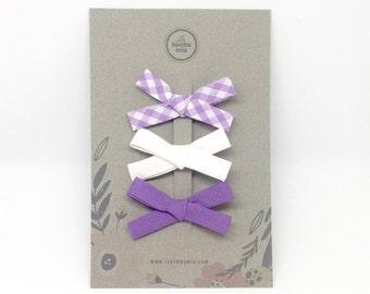 Flower bows set x 3!  Lilac