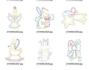 Multiline-Christmas ( 10 Machine Embroidery Designs from ATW ) XYZ17C