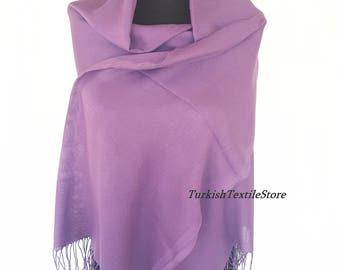 Lilac Wedding Pashmina Shawl Purple Bridesmaid Pashmina Purple Scarf Cotton Bridesmaid Gift Purple Wrap Oversize Shawl Purple Evening Wrap