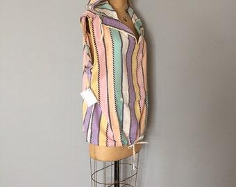 80s oversized vest   hooded pastel vest top