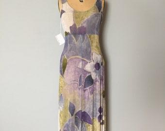 90s muted maxi dress | artist maxi