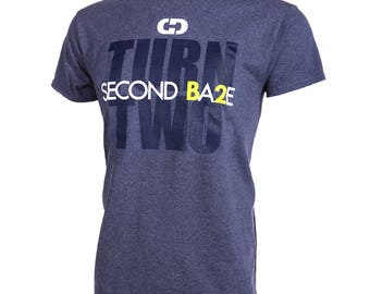 Second Base - Turn Two Short Sleeve Softball T-shirt, Softball Shirts, Softball Gift - Free Shipping!