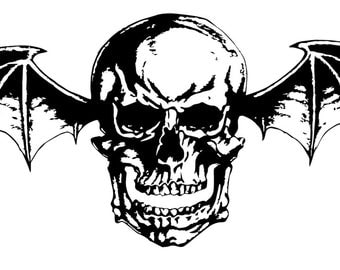 Avenged Sevenfold Deathbat Stencil-- Reusable