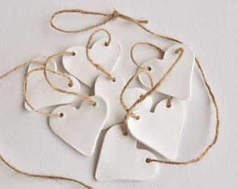 Hearts Garland, jute rope garland, garland with hearts, heart-shaped garland, nursery garland, wedding garland, white garland, rustic decor