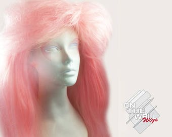 SALE Classic Jem and the Holograms 80's Cartoon Inspired Adult Custom Wig  *Ready-to-Ship*