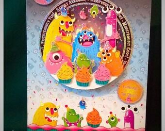 Boy Birthday Card. Handmade Greeting Card. Birthday. Boy Birthday Card.