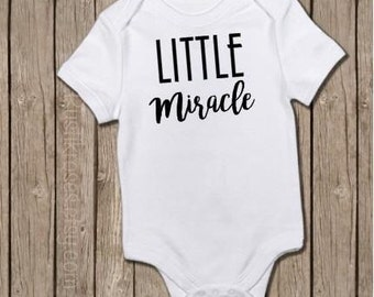 Little Miracle, New Baby bodysuit, Newborn Outfit, Coming Home, New Baby, Personalized bodysuit, Rainbow Baby, Baby After Miscarriage
