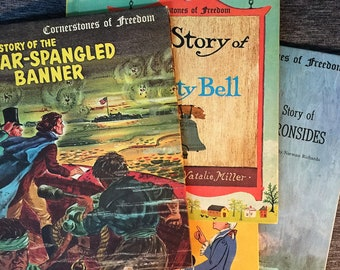 18 Books Cornerstones of Freedom Star Spangled Banner,The Liberty Bell,Vintage History Book,History Teacher,The Alamo,Books About History