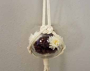 "Macrame Plant Hanger / Macrame Plant Holder / Boho Wedding Plant Hanger / Macrame Pot Holder ""Tryst"""