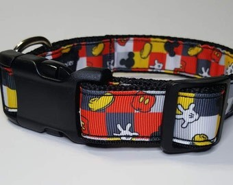 Mickey Mouse Dog Collar - Mickey Mouse collar Leash  FREE Shipping