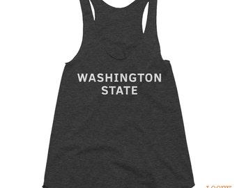 Washington State Graphic Tank Top // Women's Tank Top // Racerback Tank Top // American Apparel Tank // PNW Shirt // Washington State Shirt