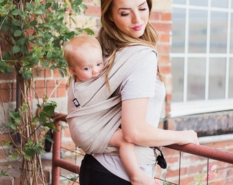 xoxo buckle wrap baby carrier - chai tea latte (made with eco2 cotton)