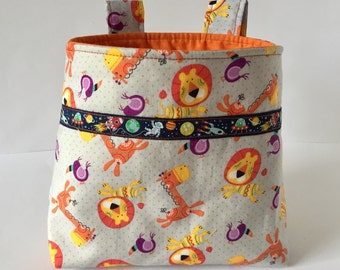 Handlebar bag bicycle basket kids basket gift of boys orange
