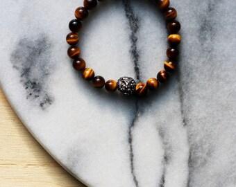 """""""Tiger Œil"""" bracelet"""
