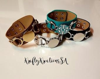 Initial cuff bracelet,personalized cuff bracelet,initial leather cuff,monogram leather cuff,monogram leather jewelry,initial leather jewelry