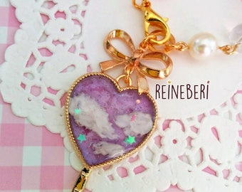 Lavender Cloudy Skies Bag charm