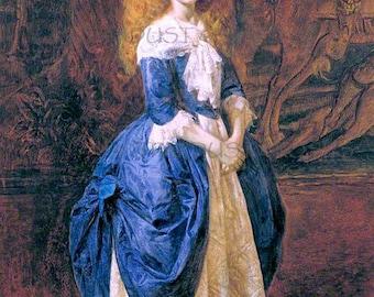 ANTIQUE Art Print DOWNLOAD 1800s Beauty - INSTANT Digital Vintage Painting Art To Frame Child Lady Junk Journal Altered Art Frameable no5016