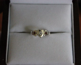 Trade Price! Handmade 925 sterling silver Triple Heart ring