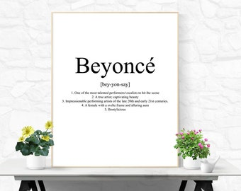 Beyonce Quote Beyonce Printable Beyonce Digital Download Girly Wall Art Bathroom Wall Art Office Decor Desk Accessories College Dorm Decor