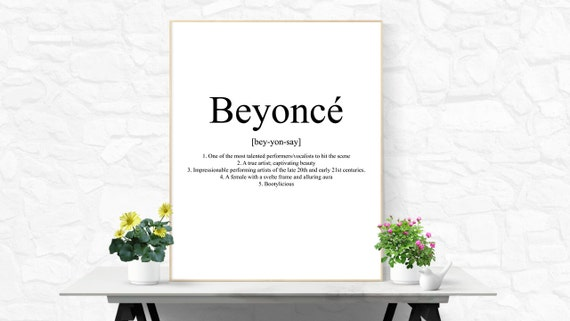 Beyonce quote beyonce printable beyonce digital download girly beyonce quote beyonce printable beyonce digital download girly wall art bathroom wall art office decor desk accessories college dorm decor stopboris Images