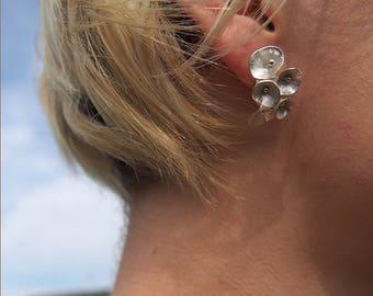 Sterling Silver Cone Earrings