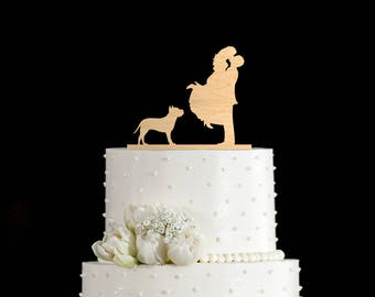 Pit bull cake topper,Couple silhouette Pit Bull Terrier wedding topper,Couple Kissing topper Pit Bull,Pit Bull cake topper,Pit Bull,5912017