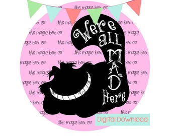 Disney iron on transfer - Cheshire Cat Iron on Transfer - DIGITAL DOWNLOAD
