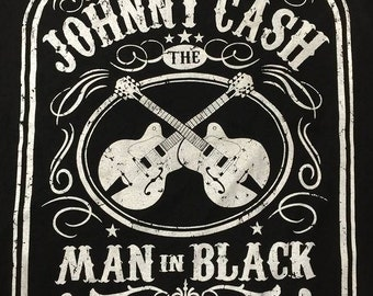 Johnny Cash Man In Black Black Shirt