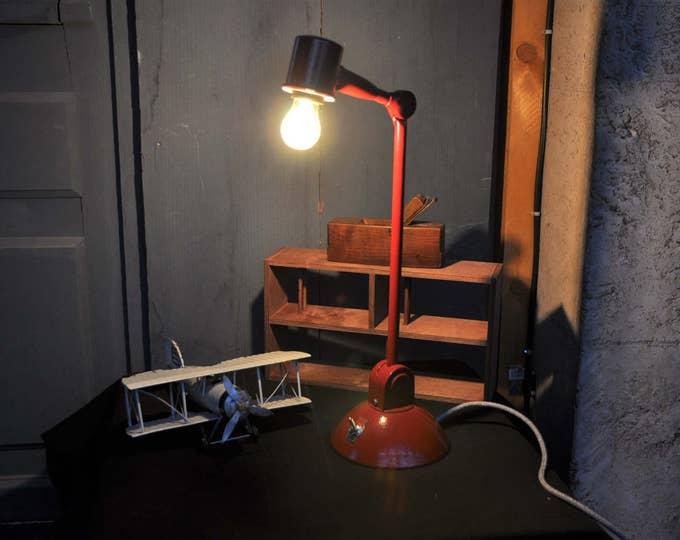 Vintage industrial Red light