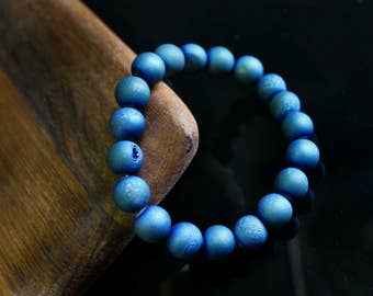 Cobalt Geode Stone Bracelet