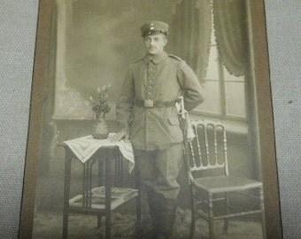 Imperial German Soldier Cabinet Card  * gdi195