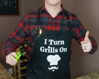 ApronMen I Turn Grills On Apron