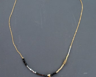Perissa Beach Horn Necklace