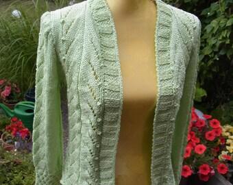 Verschlusslose bright green Cardigan, size 36-38 (S-M).