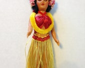 Hawaiian Hula Doll with sleep eyes