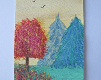 Original Watercolor ACEO (Art Trading Card)