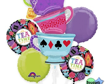 Mad Tea Party Bouquet Of Balloons - Birthday Party - Alice in Wonderland - Tea Time