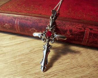 Vampire Goth Cross Necklace