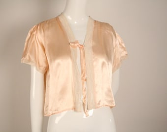 1930s Peach and Cream Boudoir Jacket