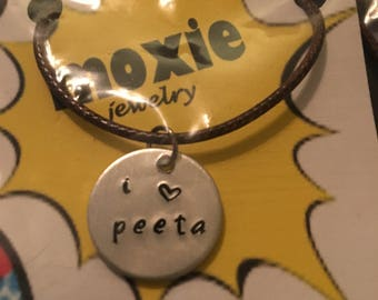 I love Peeta necklace Hunger Games
